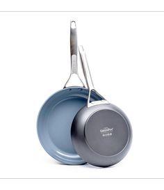 Paris Pro Ceramic Non-Stick Open Frypan Set Gray, GreenPan(Anodized Aluminum) Ceramic Non Stick, Pan Set, No Cook Meals, How To Memorize Things, Ceramics, Metal, Dishwasher, Stainless Steel, Oven