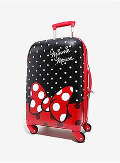 """Travel in Minnie style! Disney Minnie Mouse 21"""" Spin Luggage"""