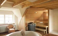 Sauna PREMIUM: Maßeinbau in Dachschrägen