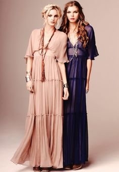 Twelfth St. by Cynthia Vincent Tiered Gathered Dress in Blush