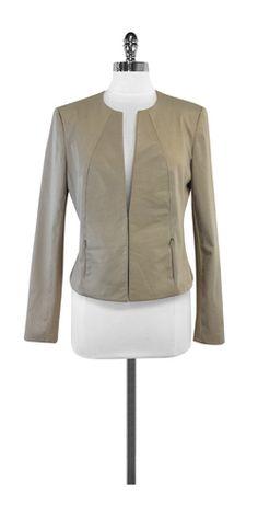 Iris Setlakwe Beige Cotton & Leather Jacket