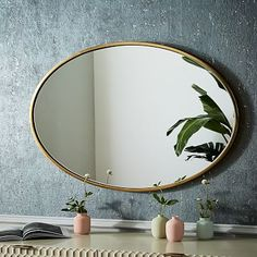 15 Bohemian Decor Essentials, from West Elm Wall Mirrors Metal, Brass Mirror, Mirror Wall Art, Mirror Tiles, Round Wall Mirror, Round Mirrors, Floor Mirror, Big Mirrors, Mirror Collage