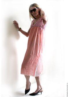 """Купить Летнее платье """"Розовый коралл"""" - коралловый, однотонный, отпуск, отпуск…"""