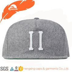 eb2b83fb56ae5 Grey 5 panel custom logo cap and hat