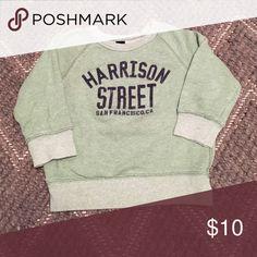 "BabyGap vintage ""Harrison Street"" sweatshirt BabyGap vintage ""Harrison Street"" sweatshirt! Washed green color with navy lettering. Super soft and cozy! GAP Shirts & Tops Sweatshirts & Hoodies"