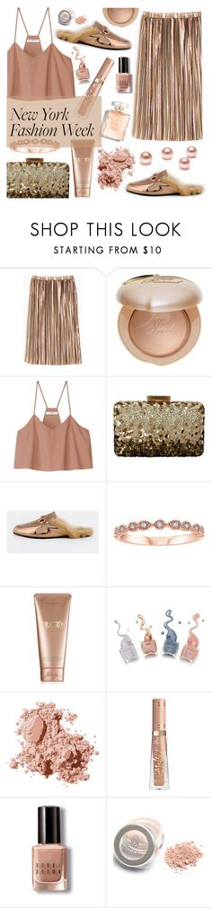 """""""What to Wear to NYFW #2"""" by sandralalala ❤ liked on Polyvore featuring Max&Co., Too Faced Cosmetics, TIBI, Oscar de la Renta, La Mer and Bobbi Brown Cosmetics"""
