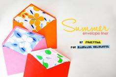 Printable DIY Summer Envelope Liners   Handmade Charlotte