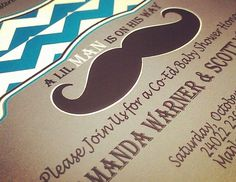 Co-ed Baby Shower Mustache Bash