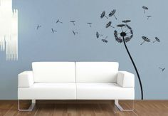 The dandelion flower is a wonderful item to decorate your home. Wall Stickers, Wall Decals, Wall Art, Dandelion Flower, Decorating Your Home, House Design, Wallpaper, Modern, Inspiration