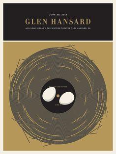 Glen Hansard Concert Posters by Jason Munn Gig Poster, Poster Prints, Graphic Posters, Art Prints, Jason Munn, Glen Hansard, Singer Songwriter, Indie, Band Posters
