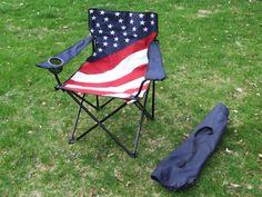 American Flag quad chair w/bag