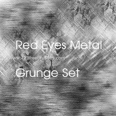 Red Eyes Metal Grunge - Download  Photoshop brush https://www.123freebrushes.com/red-eyes-metal-grunge/ , Published in #GrungeSplatter. More Free Grunge & Splatter Brushes, http://www.123freebrushes.com/free-brushes/grunge-splatter/ | #123freebrushes