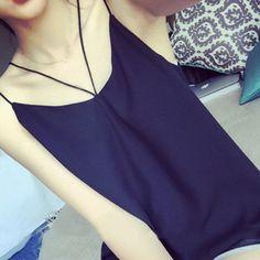 BUYMA.com 清潔感あり!かわいい★シンプルキャミソール/2カラー/2016春夏(20963735)