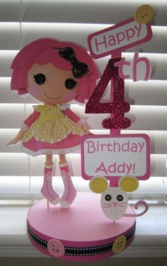 Lalaloopsy Birthday Party Crumbs Sugar Cookie Custom Centerpiece, cute idea for Bella she loves lala