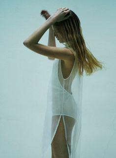 Sultry Honeymoon Fashion Inspiration: The Sheer White Dress - crazyforus Mode Outfits, Fashion Outfits, Style Fashion, Honeymoon Style, Malibu, Sheer Clothing, Fashion Designer, White Fashion, Fashion Details