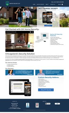 Sentry Security had a pre-existing website with a well established corporate brand in their market. Diy Home Security, Ecommerce Solutions, Security Solutions, Store Design, Design Shop