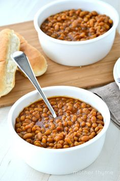 I have been wanting to try baked beans from scratch. These looked great and had clear recipe instructions. Woo Hoo!
