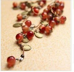 N140  Thai style sweet cherry necklace necklaces for women wholesale vintage retro B3.2