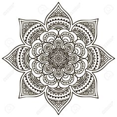Mandala round ornament pattern elementos decorativos do vintage Mandala Art, Mandala Doodle, Mandalas Painting, Mandalas Drawing, Mandala Coloring Pages, Mandala Pattern, Zentangle Patterns, Colouring Pages, Mandala Design