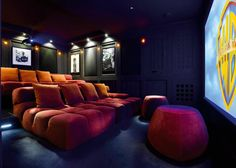 Different home theater seating choices for you to discover. See more ideas concerning Home theater seats, Home theater and Theater seats. Movie Theater Rooms, Home Cinema Room, Home Theater Seating, Home Theater Design, Theatre Rooms, Theater Seats, Cinema Theater, Salas Home Theater, Best Home Theater