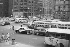 U.S. Woodward Ave., Detroit, Michigan, 1952