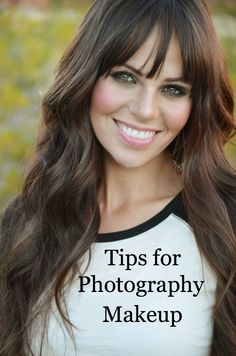 Great makeup tips for your next photoshoot....but I actually like her hair.
