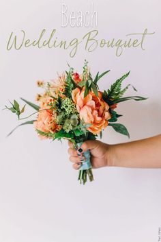 Beautiful beach wedding bouquet made with premium silk florals from Afloral.com!