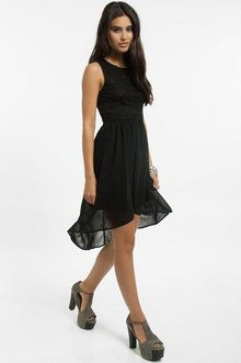 Up in Lace Dress in Black