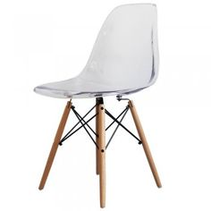 Charmant Buy Eames Style Clear Plastic Retro Side Chair From Fusion Living