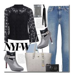 What to Pack: NYFW by beebeely-look on Polyvore featuring M.i.h Jeans, Dermalogica, José Eber, StreetStyle, NYFW, lace, StreetChic and twinkledeals