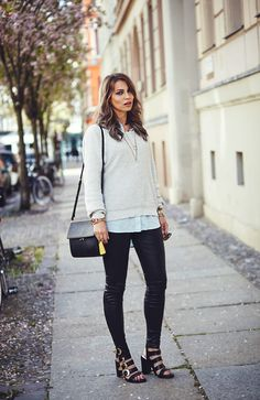 Spring Colors | wearing Marni Bag, Senso Shoes and leather pants | Berlin street style