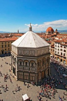 The Baptistery in Florence, Italy