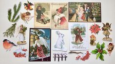 Christmas Ephemera pack 5 cut outs december daily scrapbook