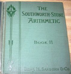 1904 SouthworthStone Arithmetic Book II by GoodBuyGrace on Etsy