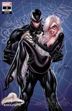 Amazing Spider-Man J Scott Campbell Exclusive - Venom Black Cat Cvr C Comic Book Characters, Marvel Characters, Comic Character, Black Cat Marvel, All Spiderman, Amazing Spiderman, Marvel Comics Art, Marvel Heroes, Thor Marvel