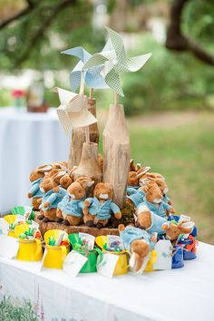 Party favors included Peter Rabbit stuffed animals and treat-filled watering cans.  Source: Alex Michele Photography