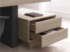 JERA 07 Schreibtisch-Container mit Softschließung, Manager-Schubladencontainer in Ulme-grau
