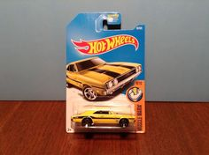 Hot Wheels '69 Dodge Charger 500 #95 Muscle Mania 2017 Yellow 1969 Mooneyes #HotWheels #Dodge