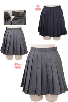 Japanese School Girl Costume Navy and Gray Seifuku Skirts - School Uniform Skirts, School Uniform Fashion, Japan School Uniform, Skirt Patterns Sewing, Types Of Fashion Styles, Alternative Fashion, Cosplay, Cute Outfits, Fashion Outfits