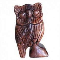 Bali Puzzle Box - Owl