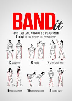 STRENGTH: Work it out using a resistance band. Great to have...