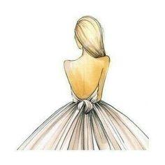 drawing, dress, and art Bild