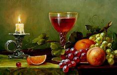 Still Life Drawing, Still Life Oil Painting, Mermaid Artwork, Still Life Fruit, Nature Gif, Fruit Painting, Wine Art, Art Courses, Fruit Art