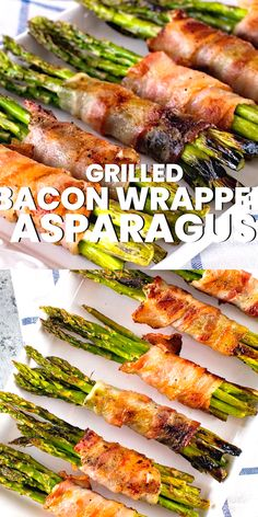 Tender, delicious Asparagus bundles wrapped with salty grilled bacon. This Bacon Wrapped Asparagus is a low carb and delicious side dish on your grill. If you are looking for a new grilling recipe to Grilled Vegetable Recipes, Grilled Asparagus Recipes, Healthy Grilling Recipes, Grilled Veggies, Cooking Recipes, Best Asparagus Recipe, Meats To Grill, Best Veggies To Grill, Skinny Recipes