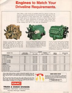 1974 9500 Conventional Cab GMC Sales Brochure Kenworth Trucks, Chevrolet Trucks, Gmc Suv, Chevy 4x4, General Motors, Detroit Diesel, Truck Engine, Diesel Cars, Diesel Engine