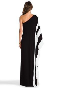 Rachel Zoe Azur One Shoulder Maxi Dress in Black & White   REVOLVE
