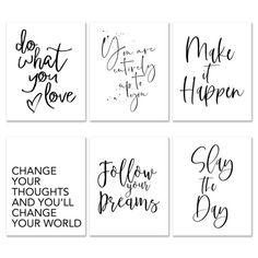 20 Inspirational Quotes You Can Print for Your Walls for Free! - Chicfetti Free Printable Quotes, Printable Wall Art, Printable Postcards, Coloring Pages Inspirational, Inspirational Posters, Wall Art Quotes, Sign Quotes, Custom Bottle Labels, Frame Wall Collage