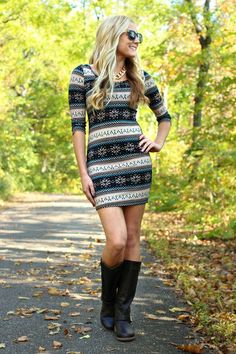 Skyfall Sweater Dress. Needs to be longer, but I LOVE the style!