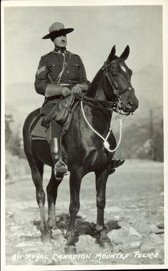 Prairie Postcards PC009325: Harmon Byron, Royal Canadian Mounted Police. ([before 1942])