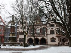 Rathausplatz Freiburg in winter Portal, Fairy Homes, Black Forest, The Places Youll Go, Fairies, Germany, Magic, Mansions, House Styles